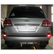 Выхлоп Fox для Toyota LC200 дизель с 2007-2015